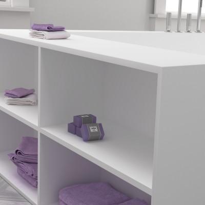 Baignoire en DuPont™ Corian® avec étagères intégrées