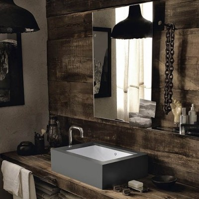 Plan Vasque en Corian® Rustic Chic