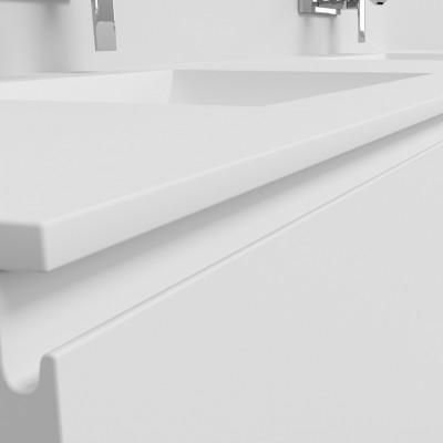 Ensemble Vasque Corian® Refresh + Meuble 2 Tiroirs alignés