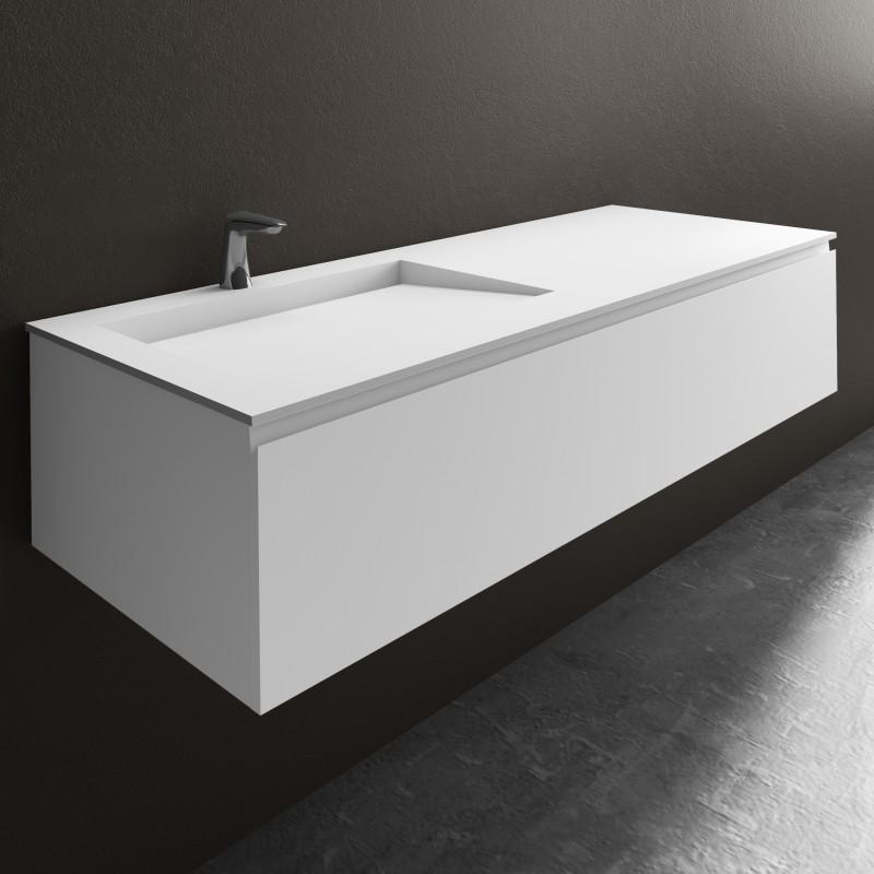 ensemble vasque corian tennessee sur meuble suspendu 1. Black Bedroom Furniture Sets. Home Design Ideas