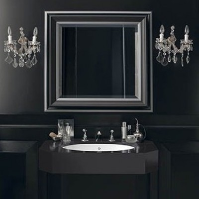 Plan Vasque en Corian® Contemporary Black