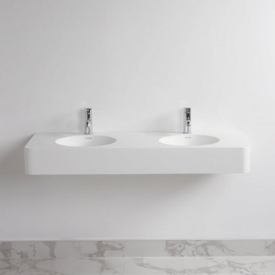 Double Lavabo Hosta en Solid Surface