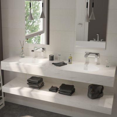 Double Vasque en Corian® Dune Prima Oval
