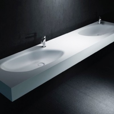 Double Vasque en Corian® Springfield