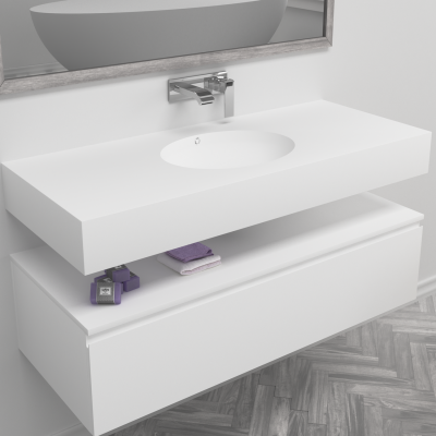 Vasque en Corian® Oval