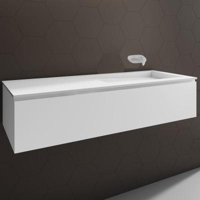 ensemble vasque corian canada sur meuble suspendu 1 tiroir. Black Bedroom Furniture Sets. Home Design Ideas