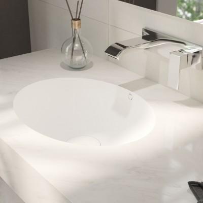 Double Sink Corian® Oval Dune Prima