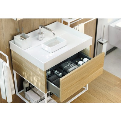 Washbasin with water container + 1 drawer cabinet