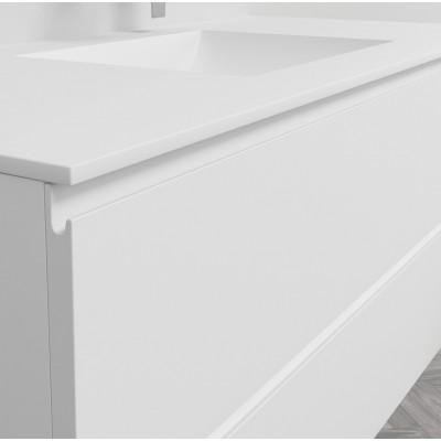 Washbasin Corian® Refresh cabinet x 2 piled drawers