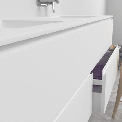 Washbasin Corian® Refresh cabinet x 4 piled drawers