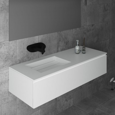 Washbasin Corian® Alabama cabinet x 1 drawer
