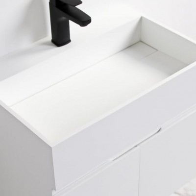 Sink Rosy in Solid Surface