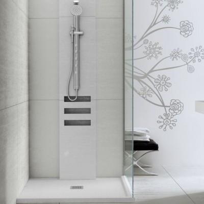 Shower Tray Fiora Silex Drain Center