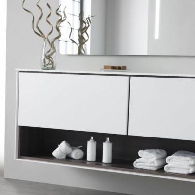 Washbasin Corian® Toronto cabinet Carthage