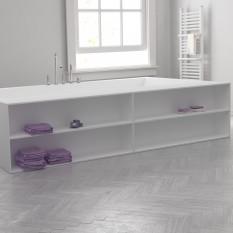 Custom Sized Bathtub Corian® Integrated shelves front