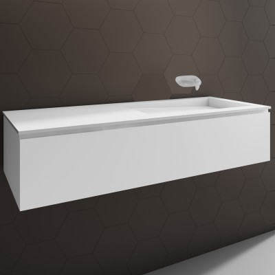Washbasin Corian® Canada cabinet x 1 drawer