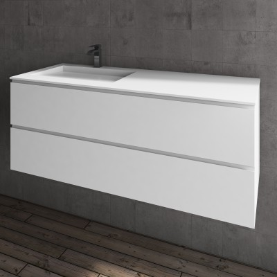 Washbasin Corian® Tennessee cabinet x 2 piled drawers
