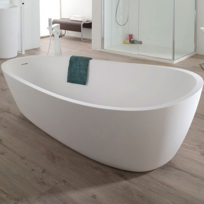 Almond in Solid Surface Bath Tub