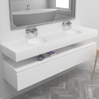 Double Sink Corian® Red