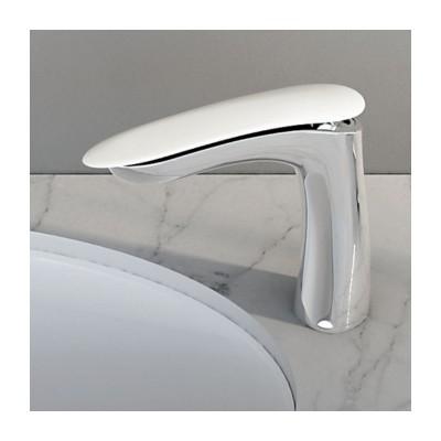 Washbasin Tap Synergy Chrome + Glacier White Corian®