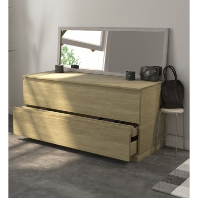 Cabinet 2x1 drawers in Solid Oak