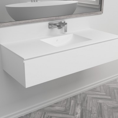 Washbasin Corian® Refresh cabinet x 1 drawer