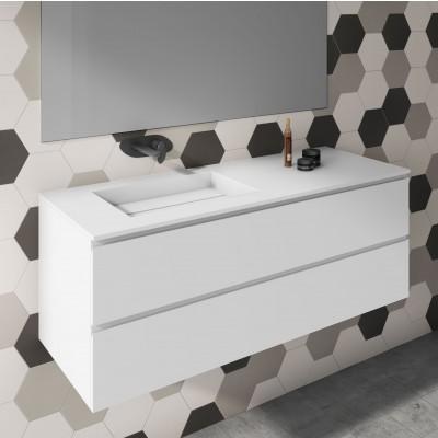 Washbasin Corian® Alabama cabinet x 2 piled drawers