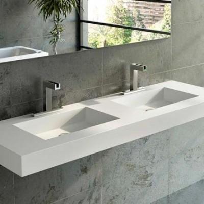 Double Sink Corian® Square