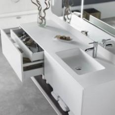Waschtisch DuPont™ Corian® Toronto + Möbelstück Carthage