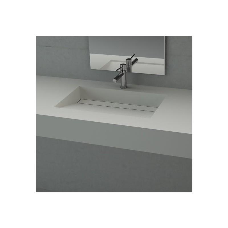 Wastafel corian alabama solid surface wasbak - Badkamer lengte plan ...