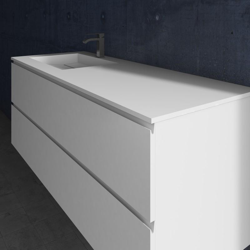 ensemble vasque corian alabama sur meuble suspendu 2. Black Bedroom Furniture Sets. Home Design Ideas