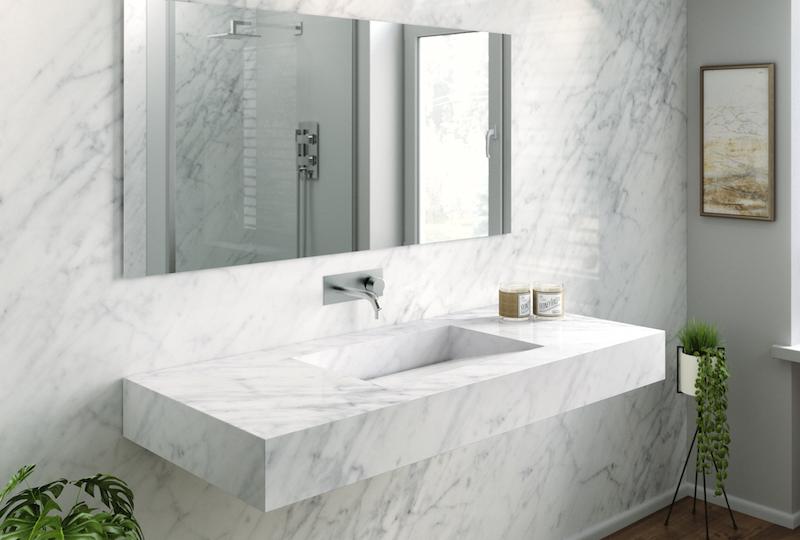 Prix moyens dune salle de bain sol mur douche baignoire for Prix renovation salle de bain complete
